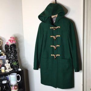 J Crew Wool Cashmere By Nello Gori toggle coat